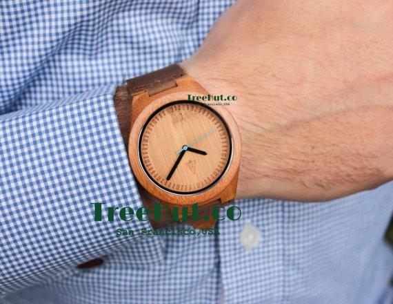 personalized mini st engraved wooden watch genuine leather personalized mini st engraved wooden watch genuine leather mens watch groomsmen gift wood watch bamboo watch hut227