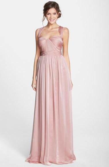 ML Monique Lhuillier Bridesmaids Shirred Chiffon Gown #2238851 ...