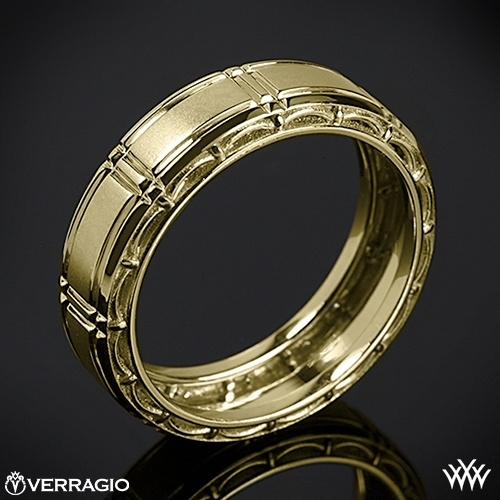 Mariage - 14k Yellow Gold Verragio MP-7001 Dual Channel Wedding Ring