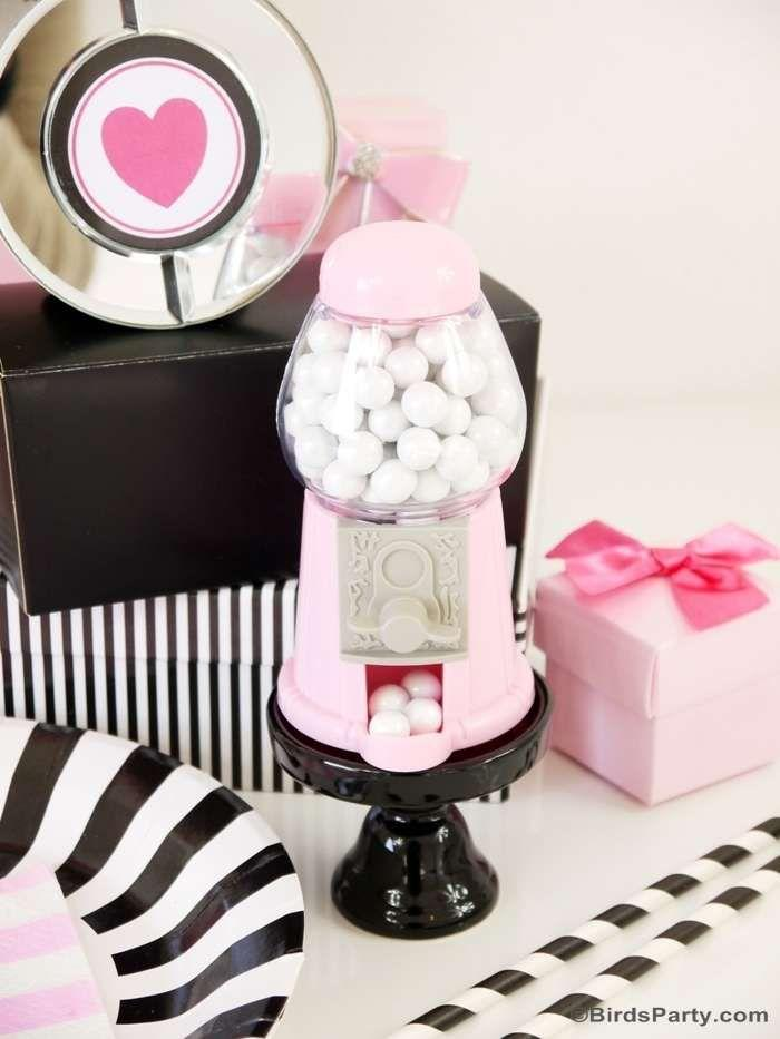 pink and black cocktail party ideas