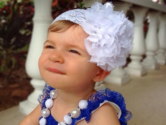 Large White Baby Headband 47b5a66bca2