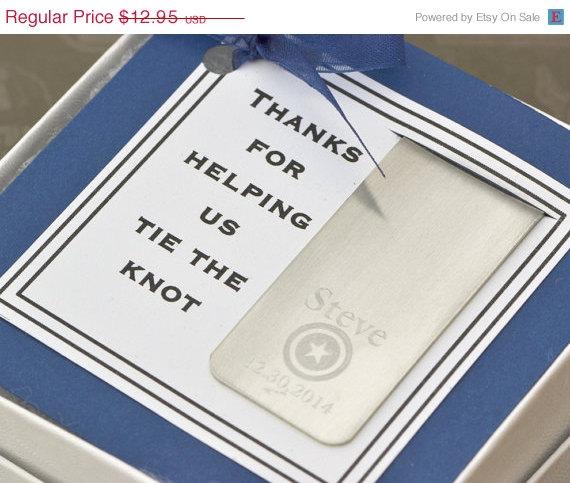 Свадьба - Wedding Sale Super Hero Money Clip w/giftbox - Personalized Gift - Engraved Money Clip  -Groomsmen Gift - Groom Gift - Wedding Party