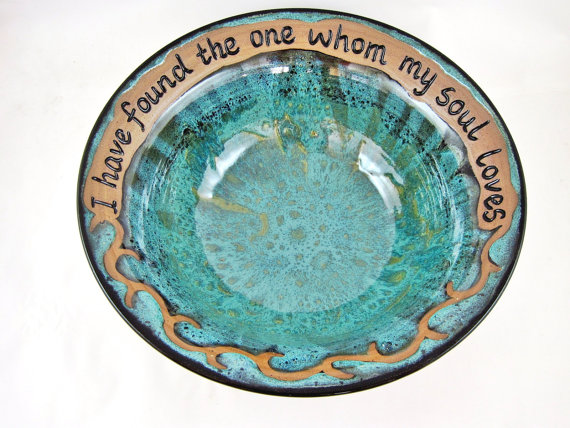 Wedding - Pottery Wedding Gift - 9th Anniversary, Commitment Ceremony - IN STOCK