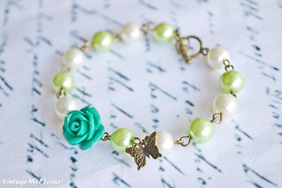 Childrens Bracelet Flower Girl Gift Toddler Jewelry Pearl Bracelet