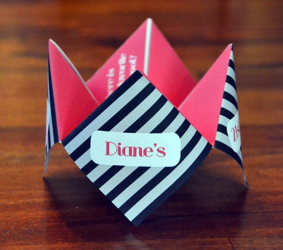 21st Birthday Invitation Cootie Catcher Favor Birthday Party