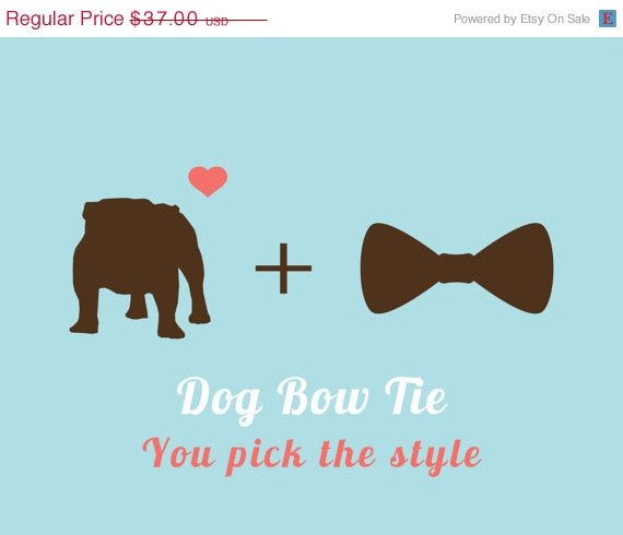 Свадьба - ON SALE Bow Tie for Dogs, You Pick the style