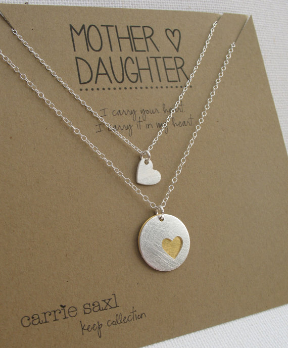 Mother Daughter Necklace Set - Mother\'s Necklace - Daughter\'s ...