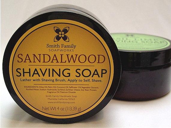Hochzeit - Men's Shaving Soap, Sandalwood Shave Soap, Gift for Dad, Groomsmen Gift, 6 Ounce Jar