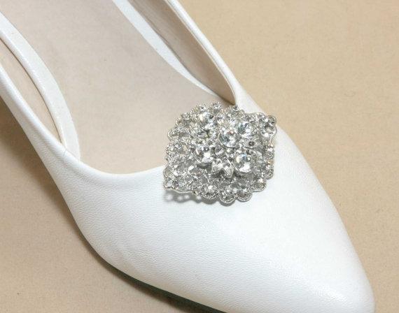 Wedding - A Pair Of Shoes Clip,Rhinestone Crystal Shoes Clip,Wedding Shoes Clips,Dance Shoes Clip,Oval Shoes Clip,Bridesmaids Bride Shoes Clip
