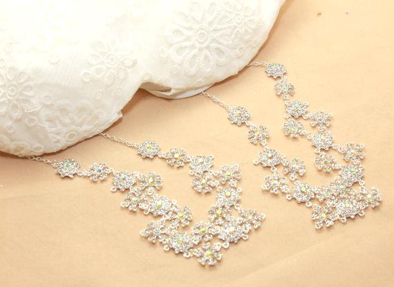 e400823050 Bridal Wedding Bra Strap Halter Jewelry Rhinestone Crystals Shoulder  Necklace ---- both sides