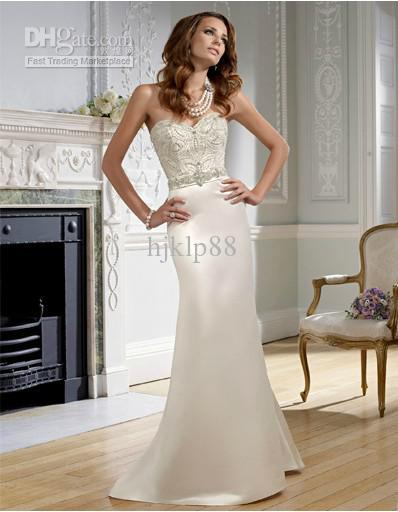Wedding - New Custom Size Sexy Beautifully Satin Beaded Embroidery Wedding Dresses Bridal Dresses Online with $89.11/Piece on Hjklp88's Store