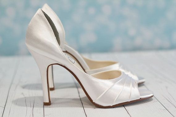 Wedding - Wedding Shoes - Heel 3.5 Inches Custom Wedding Shoes - Choose From Over 150 Color Choices - Davids Bridal Colors Available - Bespoke Shoes