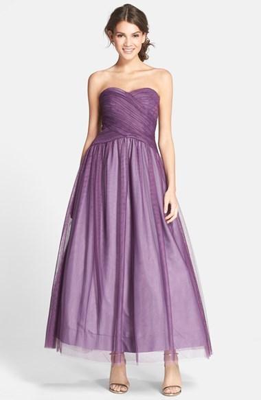 Ml Monique Lhuillier Bridesmaids Tulle Tea Length Dress