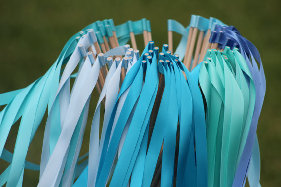 how to make wedding ribbon wands