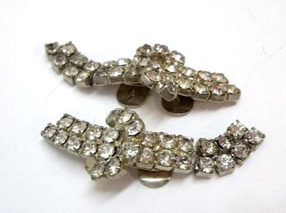 Wedding - Set Of Clear Rhinestone Buckle Shoe Clips Wedding Bridal Holiday Rhinestone Shoe Jewelry DD 636
