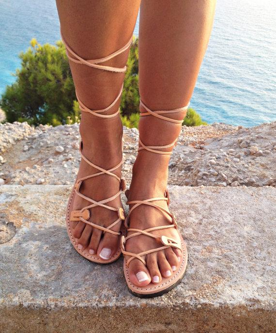 Leather Sandals ,gladiator Sandals, Greek Leather Lace up