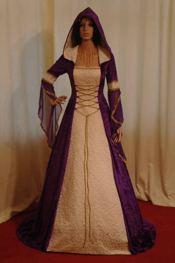 Meval Handfasting Renaissance Wedding Dress Custom Made