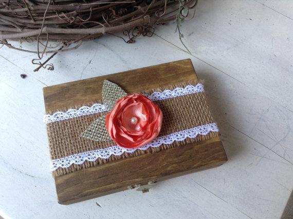 Mariage - Rustic Ring Bearer Pillow Box Alternative / His And Hers Ring Box / Rustic Wedding / Rustic Chic Wedding