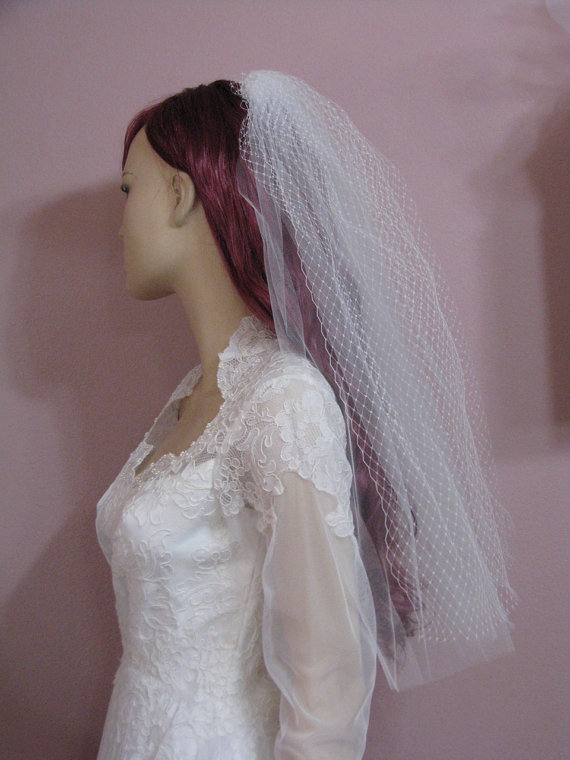Mariage - French Net Two Tier Wedding Veil