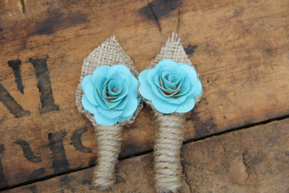 Mariage - Rustic Boutonniere, rustic wedding, rustic accessories