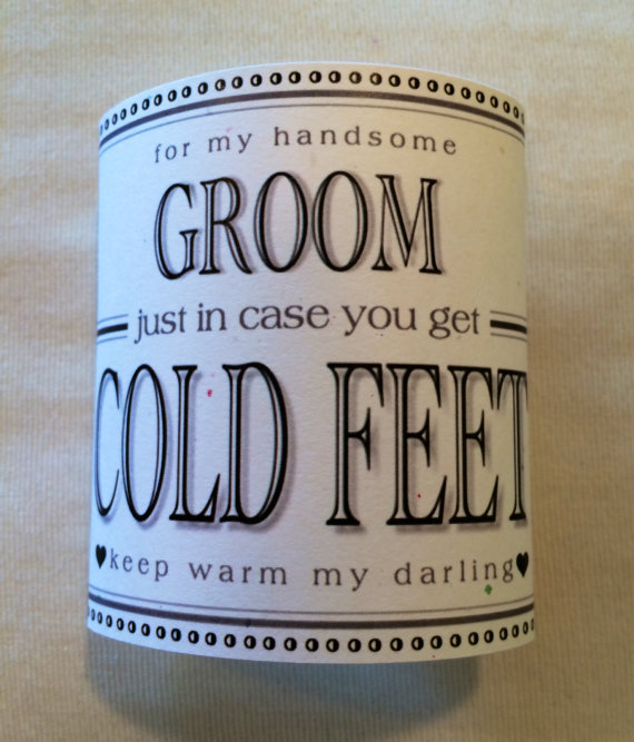 Fabulous grooms wedding gift from bride just in case you get fabulous grooms wedding gift from bride just in case you get cold feet label add your own socksoptional i do metoo shoe sticker too junglespirit Images