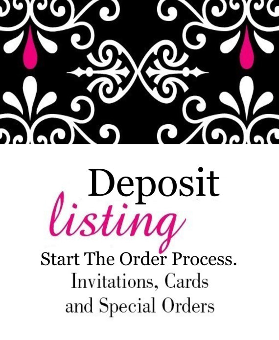 Hochzeit - DEPOSIT - Order Your Invitations - deposit is deducted from your final balance