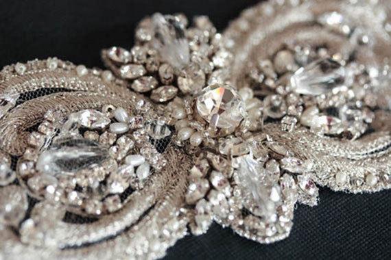 زفاف - Wedding Sash belt -  Italia 10 inches  (Made to Order)