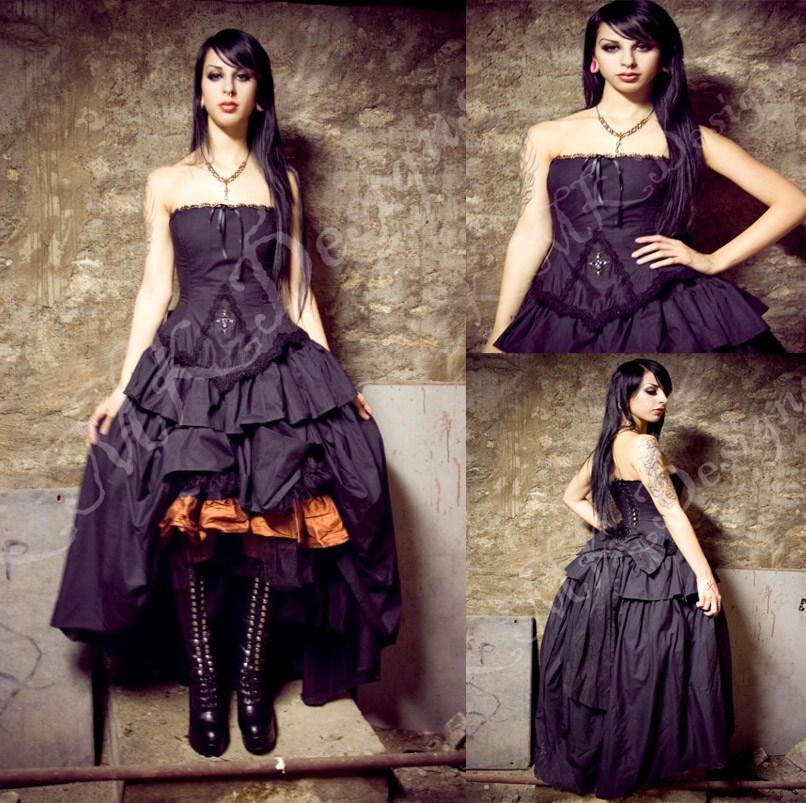 0195e6e9997 Victorian Dresses 2015 Steampunk Wedding Dress Gothic Lolita Inspired  Vampire in Black Custom Wedding Gowns Beading Bridal Gowns Online with   112.82 Piece ...