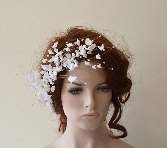 Wedding Flower Hair Combs Accessories Bridal Pieces Pin Clips Fascinator Bridesmaid