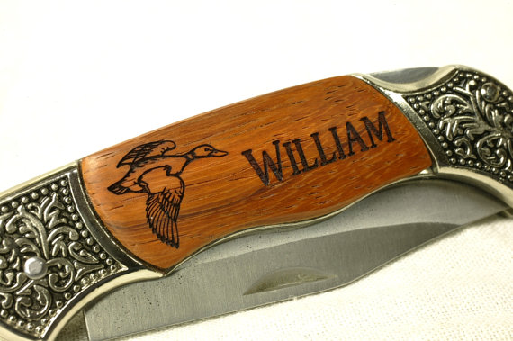Mariage - Personalized Pocket Knife, SET OF 1 Best Man Gift, Groomsmen Gift, Birthday Fathers DayWith Duck2 Graphic FQ001-1