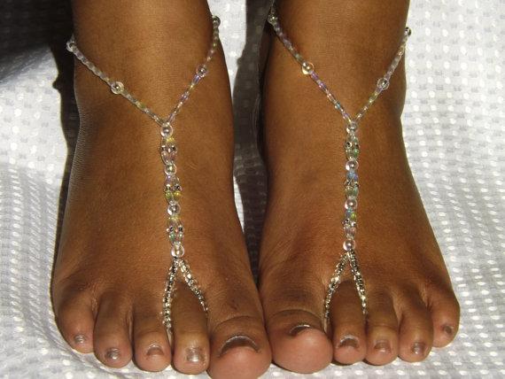 Mariage - Bridal Jewelry Barefoot Sandals Wedding Jewelry Destination Wedding