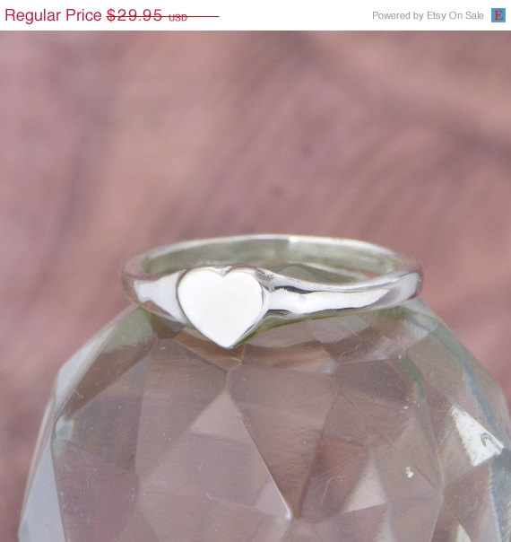 Mariage - Wedding Sale Sterling Silver Heart Ring - Heart Ring - Silver Heart Ring - Silver Ring - Sterling Ring - Heart Jewelry