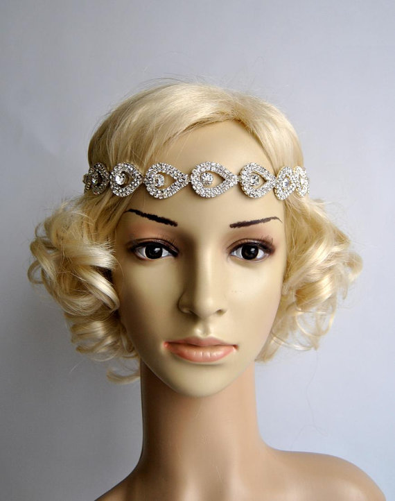 SALE Gorgeous Rhinestone Headband, Great Gatsby Headband