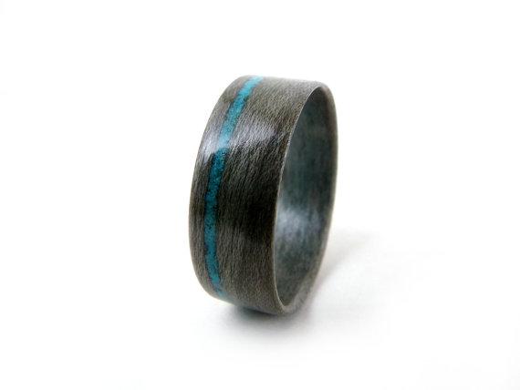 Свадьба - Grey Wood Ring, Turquoise Inlay, Grey Maple Ring, Maple Wood Ring, Wood Wedding Ring, Wood Engagement Ring, Gray Wood Ring