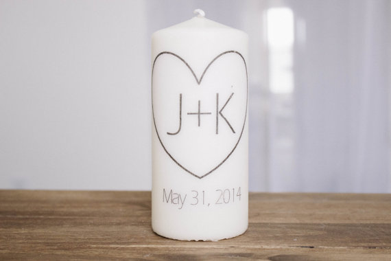 زفاف - Me and You Personalized Pillar Unity Candle, Wedding, Couple, House warming gift, home
