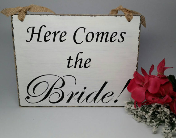 wedding sign ring bearer sign flower girl sign photo prop here comes