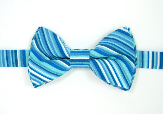 48f1b8fb97e9 Blue and white striped bow tie,Baby bow tie,Boys bow tie Men bow tie,Ring  bearer bow tie,Blue bow tie,Wedding bow tie,Toddler bow tie,