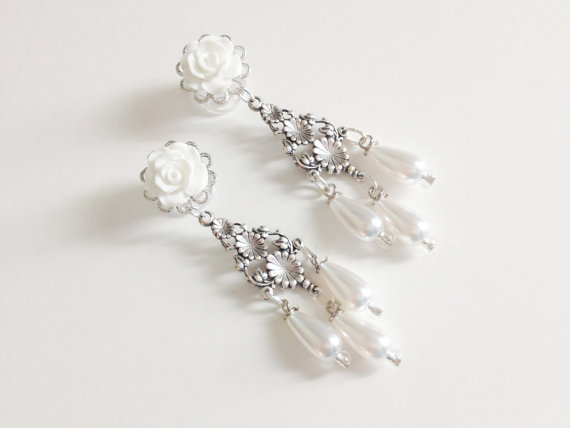 4mm 6g Bridal Dangle Plugs 5mm 4g White Wedding Gauges 0g Gauged Earrings Choose Color 6mm 2g Ear Chandelier Jewelry Piercing