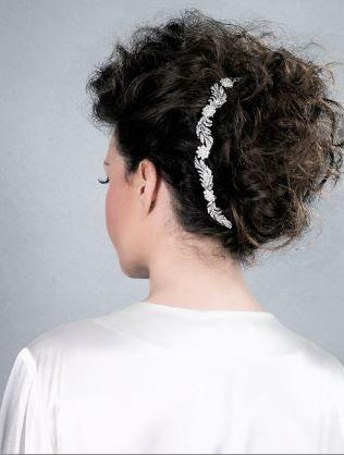 Mariage - Crystal Bridal headpiece, Wedding Hair-vine Bridal Accessory with leaves and flowers UK