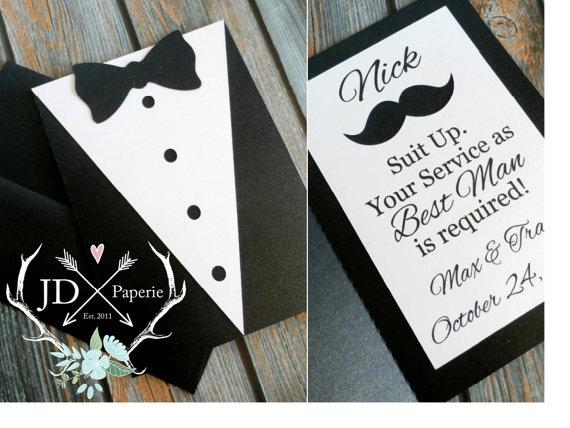custom groomsman invitation suit up your service as groomsman is