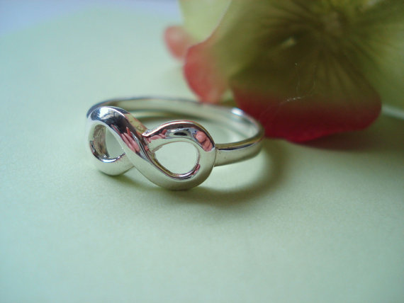 """Mariage - Engrave Sterling Silver """"Infinity Custom Ring"""" any message, handmade jewelry, everyday, wedding, best friend, birthday, mother's day gift"""