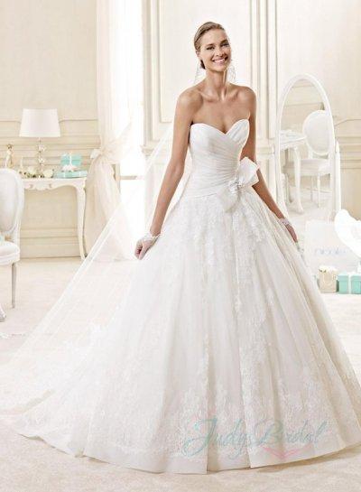 Mariage - JW15134 classic organza ball gown lace wedding dress