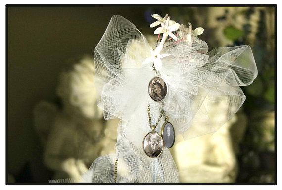 Свадьба - 3 COMPLETE KITS to Wedding Bouquet Memory Photo Charms -for Bridal bouquet -Family photos and Initials (Includes everything you need)