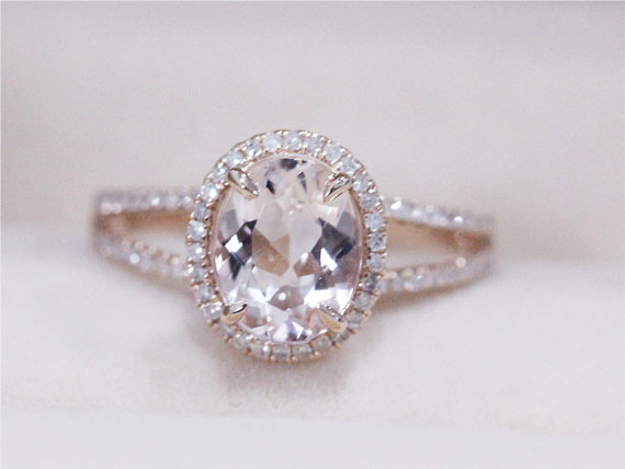 Morganite And Diamond Engagement Ring Australia