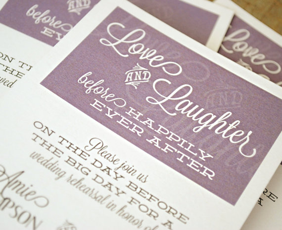 Happily Ever After Wedding Invitations: Customized Printable Wedding Rehearsal Dinner Invitation