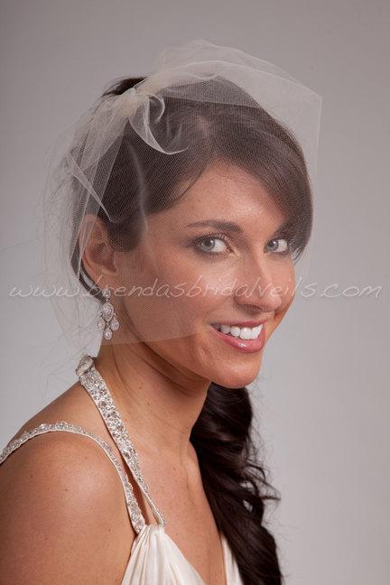 "Mariage - Tulle Birdcage Veil, 11"" Tulle Blusher, Bridal Veil, Wedding Veil"