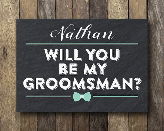 image regarding Printable Man Card titled Tailored Groomsman Card - Printable Simplest Male Card
