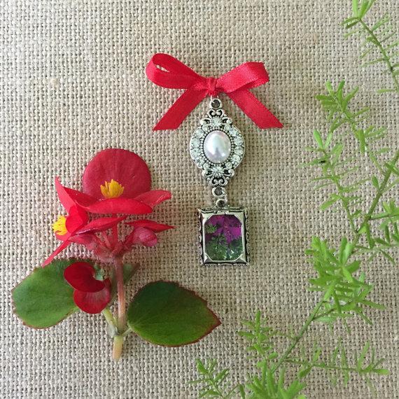 Mariage - Pearl Wedding Bouquet Photo Charm