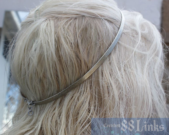 Mariage - Athena Circlet Silver Crown Jewelry Headband