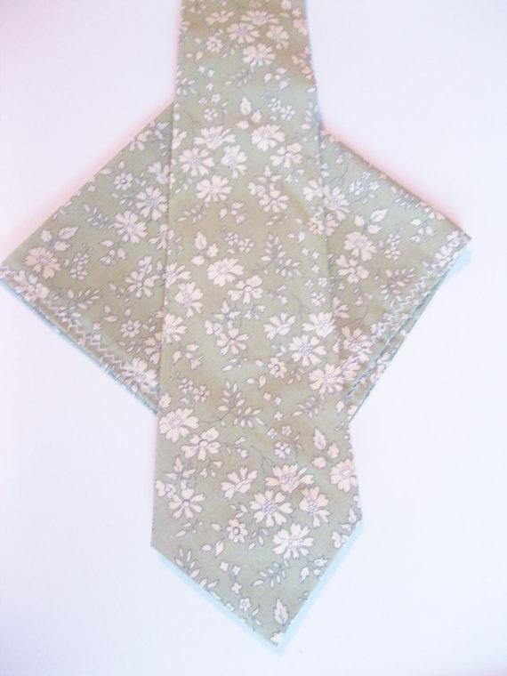 Hochzeit - RESERVED FOR GEORGE, Green Liberty of London Print Necktie, moss green, wedding tie, custom green necktie, groomsmen necktie, cotton necktie